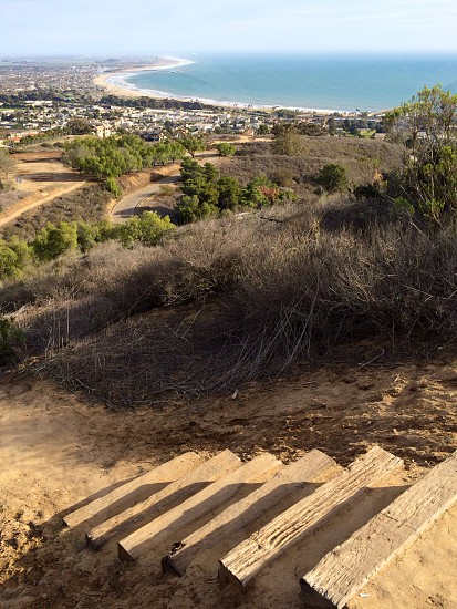 Ocean view from a mountain top in Ventura CA.  photo