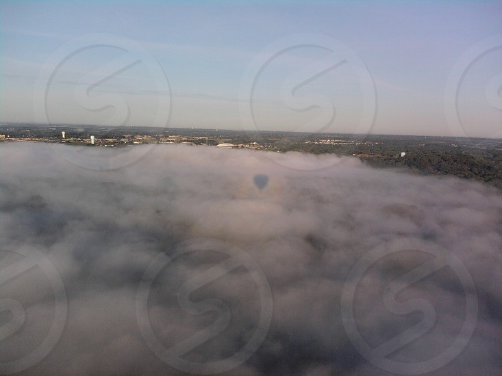 hot air balloon clouds photo