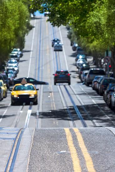 San Francisco Hyde Street Nob Hill in California USA photo