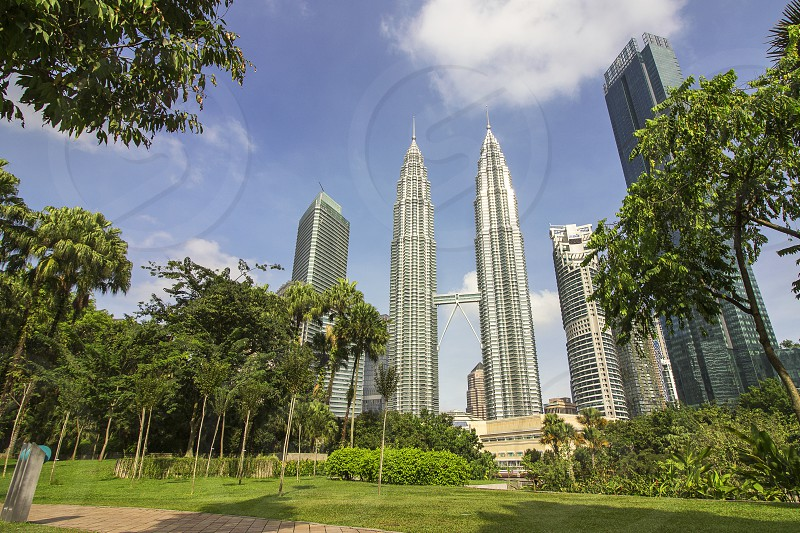 the klcc park near petronas twin towers is suitable for relax and workout photo