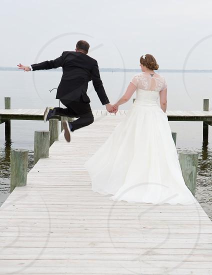 Wedding Leap of joy. photo