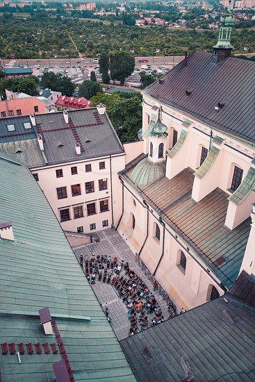 Lublin cityscape. View from Trynitarska Tower. The old town of Lublin photo