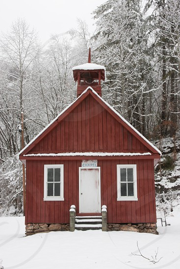 Church Wood Red Snow Little Bell Country photo