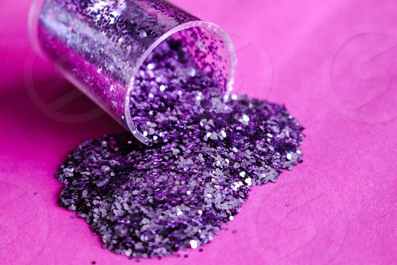 Pink glitter. photo