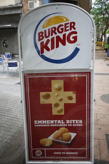 burger King with swiss cheese in the City Santa Cruz de Tenerife on the Island of Tenerife on the Islands of Canary Islands of Spain in the Atlantic.   photo