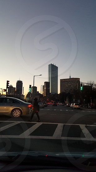 Boston dusk photo