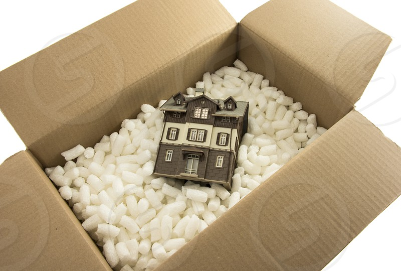 we are moving to new house packed in box photo