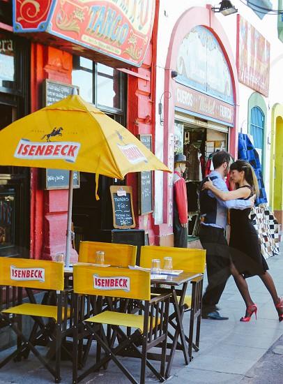 Tango Dancing Street Argentina  photo