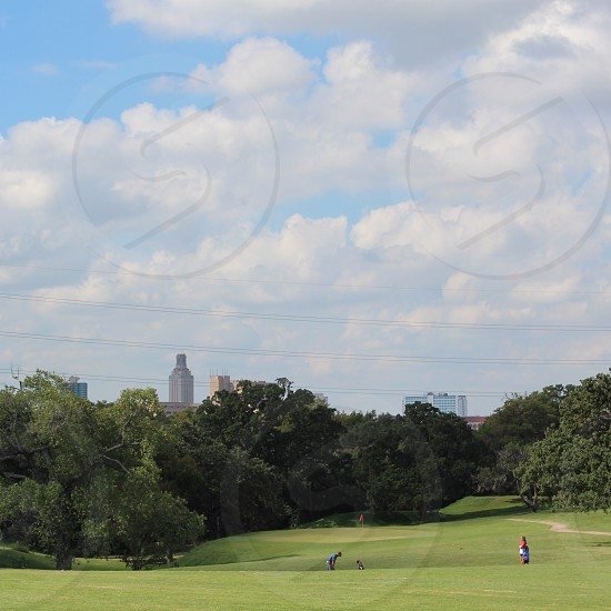 A round of golf on a cool October day in Austin.  photo