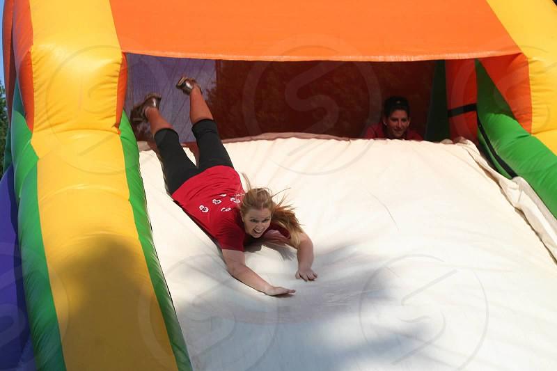 Sliding bouncy house photo