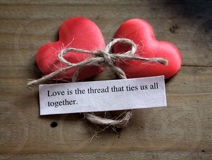 Love is the thread photo