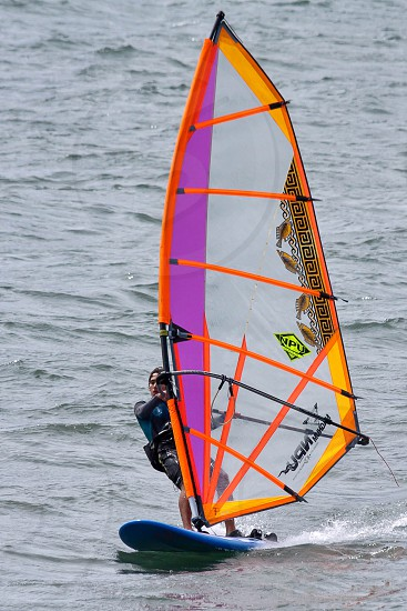 Windsurfer in Funchal Harbour Madeira photo