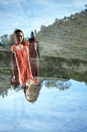 Double exposure - Kelly photo