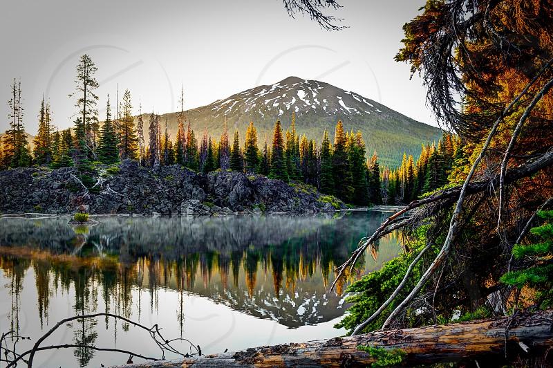 Mount Bachelor Bend Oregon Mountain sunrise Central Oregon photo