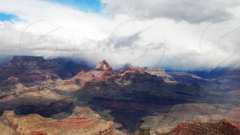 Grand Canyon Clouds Landscape Arizona Power Majesty Storm Nature photo