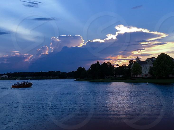 Sunset clouds water landscape outdoors lake Florida Florida sunset photo
