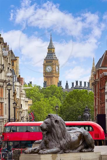 London Trafalgar Square in UK england photo
