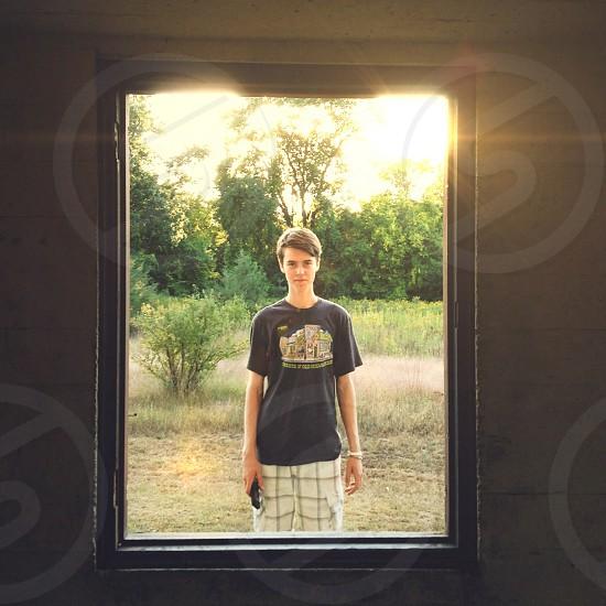 men's black tshirt photo
