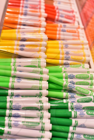 Fun and Vibrant crayola colors of the rainbow photo