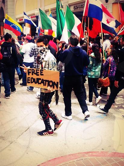 Protester photo