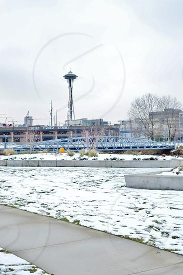 Snowy Seattle photo