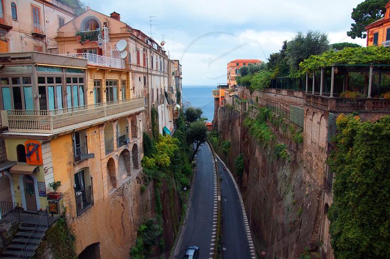 narrow roadway photo