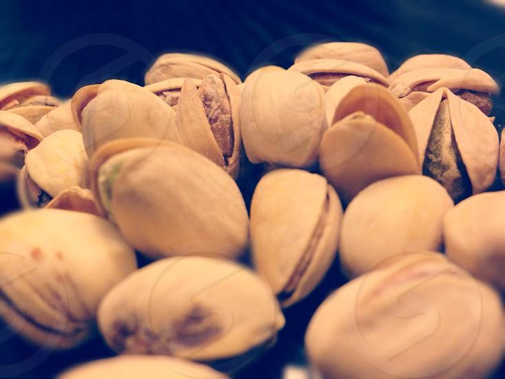 brown pistachio nuts  photo