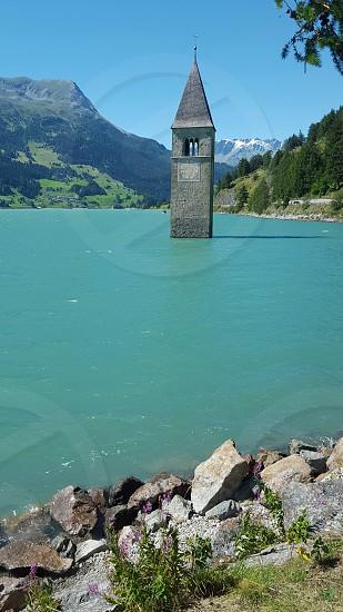 resia lake italy photo