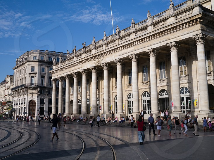 the theatre in Bordeaux France photo