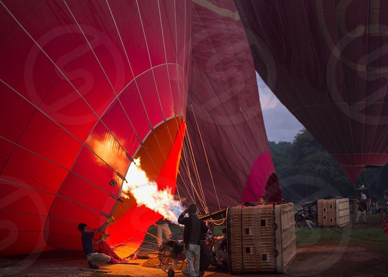 Fire in the balloon. photo