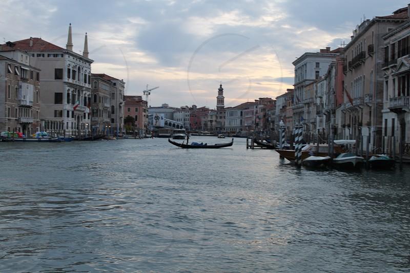 Venice Italy Grand Canal gondola photo