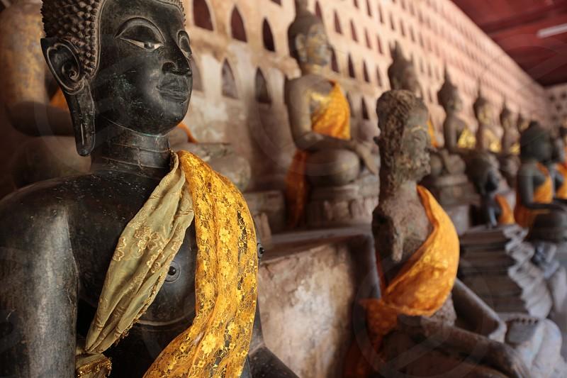 Der Wat Si Saket in Vientiane der Hauptstadt von Laos in Suedostasien.   photo