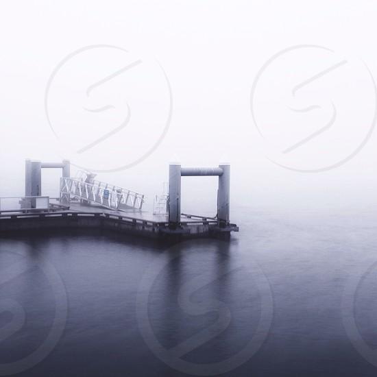 white steel dock photo