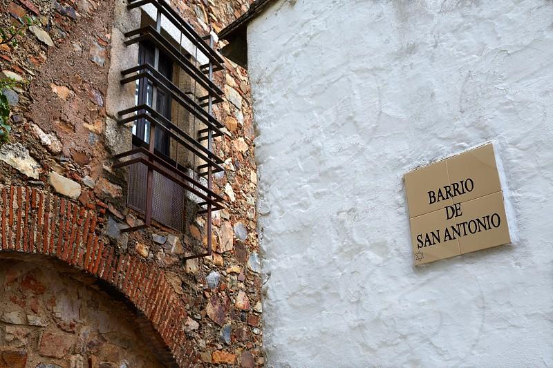 Caceres juderia saint Antonio barrio in Spain Jewish quarter photo