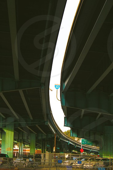 grey and brown railings photo