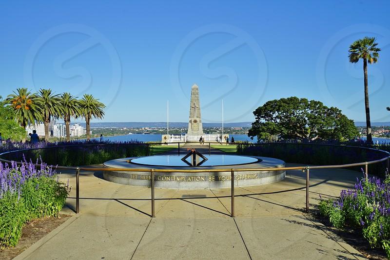 Australia war memorial in Kings Park - Perth Western Australia photo