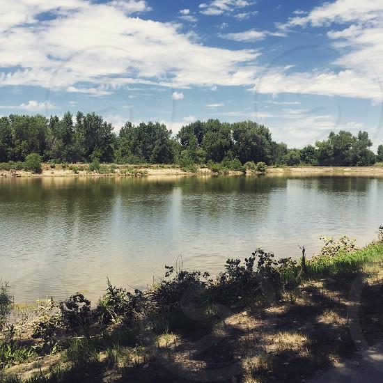photographed of calm lake photo