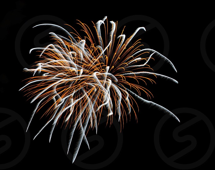 CHUTES & LADDERS FIREWORKS GOLD & WHITE LONG EXPOSURE NIGHT WIDE ANGLE photo