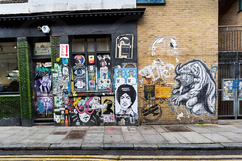 Street arts Graffiti Hipster Area Brick Lane London  photo