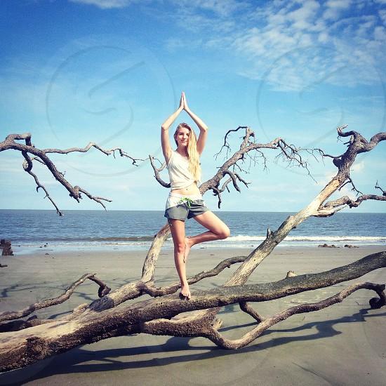 Tree Pose Hunting Island State Park photo