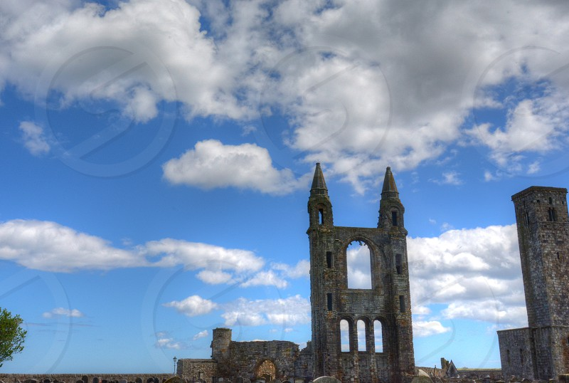 St. Andrews Cathedral in St. Andrews Scotland. photo