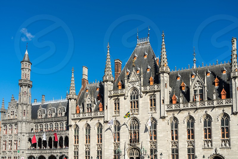 City Hall in Market Square   Bruges photo