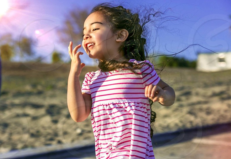 Best friends daughter at the lake Elsinore boat launch photo