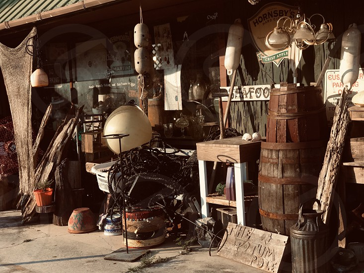 Store front junk store streets town city business photo