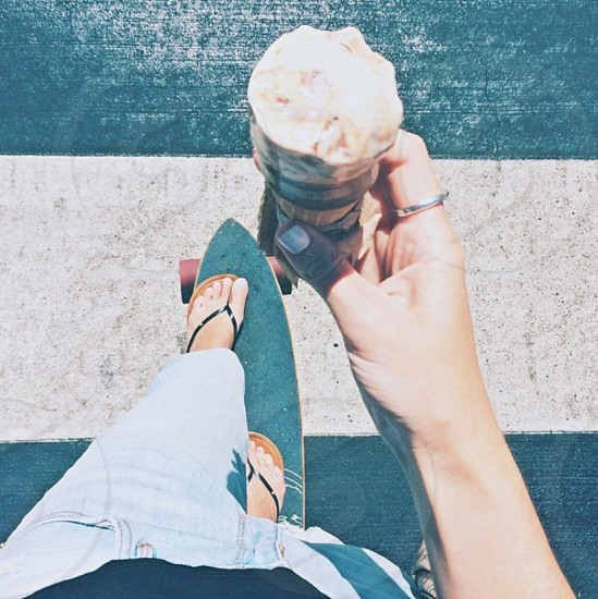 point of view skate ice cream photo