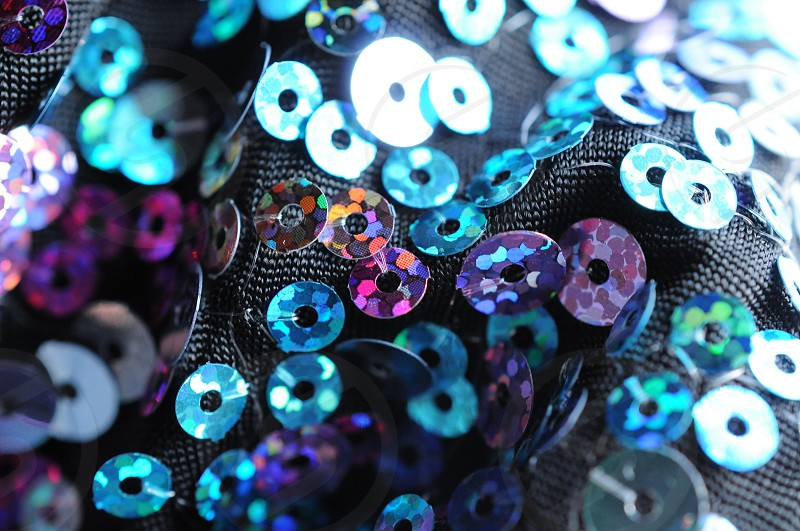 Sequins glitter shiny fabric photo