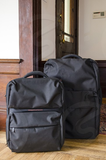 packed suitcases photo