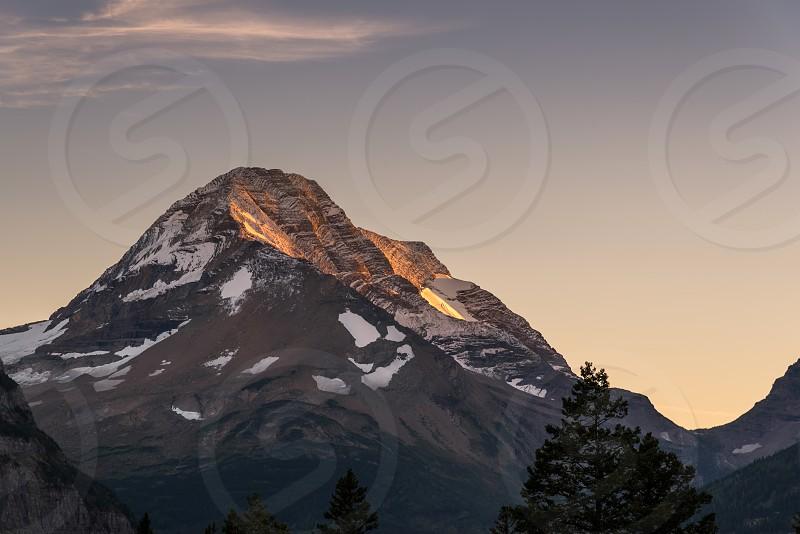 Heavens Peak at Sunset photo