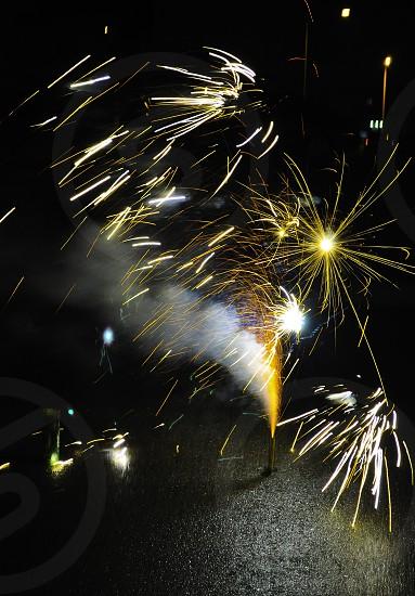 fireworks sparkling photo