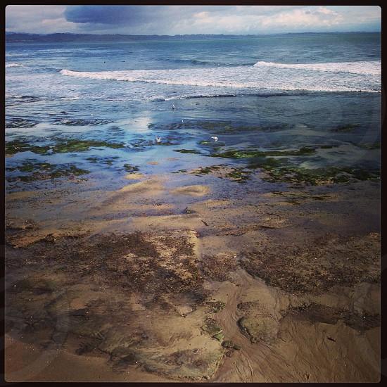 ocean waves crushing on shore photo
